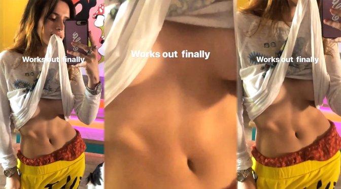 Bella Thorne – Sexy Braless Underboobs Video