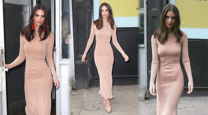 Emily Ratajkowski – Sexy Dress in New York