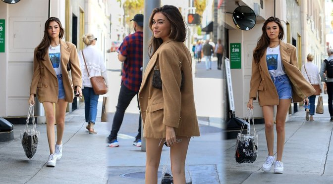 Madison Beer – Leggy Cantis at What Goes Around Comes Around in Beverly Hills