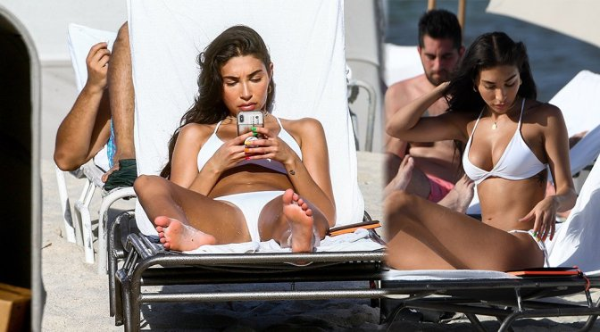 Chantel Jeffries in a Bikini on the Beach in Miami