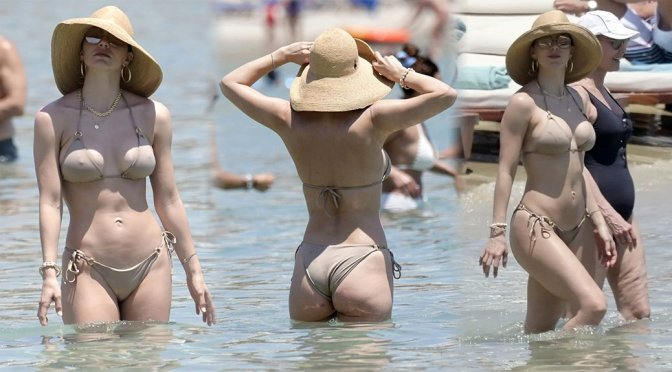Katharine McPhee - Bikini Candids in Mykonos