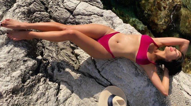 Nicole Scherzinger - Sexy Purple Bikini Photoshoot