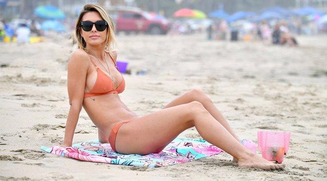 Audrina Patridge - Bikini Candids in Santa Monica