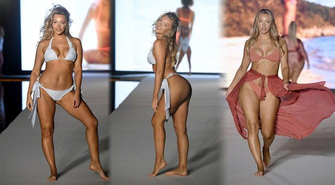 Camille Kostek – 2019 Sports Illustrated Swimsuit Runway Show at Miami Swim Week