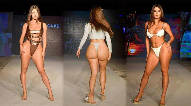 """Demi Rose Mawby – """"Oh Polly"""" Fashion Show in Miami"""