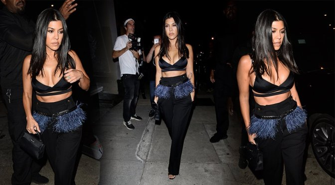 Kourtney Kardashian – Sexy Cleavage at Craig's in West Hollywood