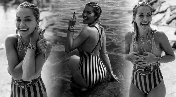 Rita Ora – Sexy Sheer Swimsuit Photoshoot