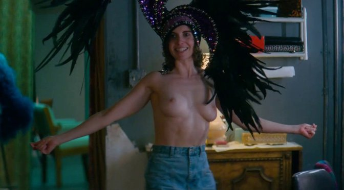 """Alison Brie – """"Glow"""" Topless Video (NSFW)"""