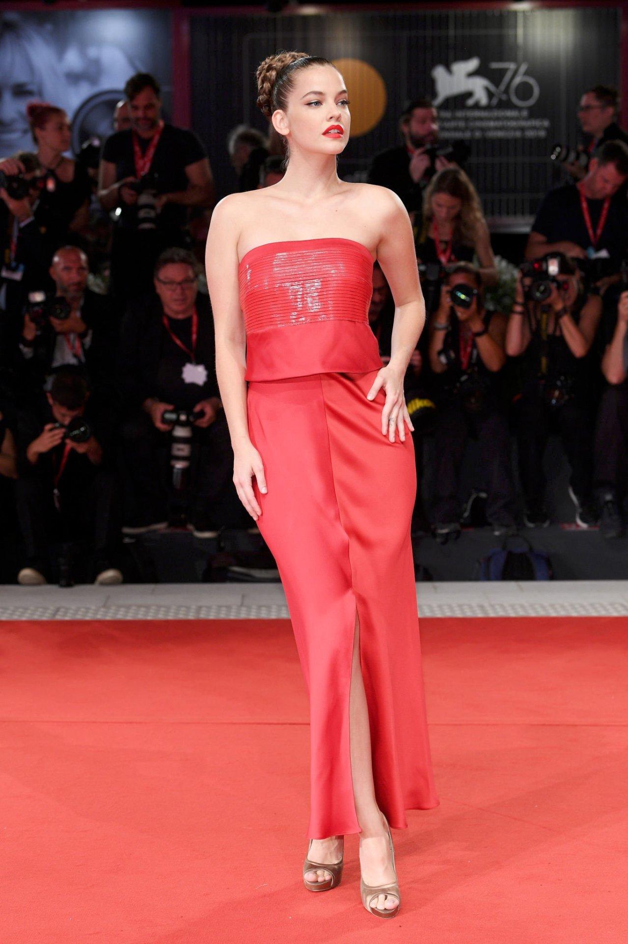 Barbara Palvin Sexy Red Dress