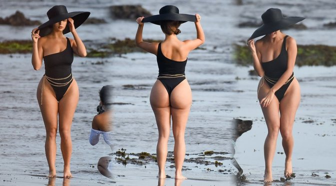 Demi Rose Mawby in Swimsuit On the Set of a Photoshoot in Bali
