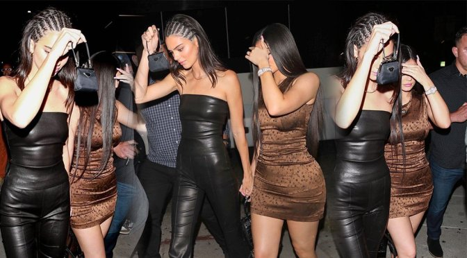 Kendall Jenner & Kylie Jenner – Sexy Night Out at Nice Guy in West Hollywood