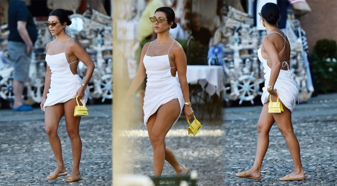 Kourtney Kardashian – Sexy Candids in Portofino