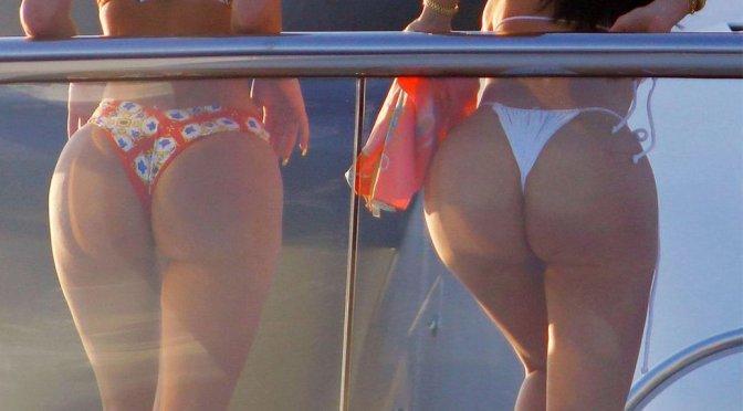 Kylie Jenner – Bikini Candids on Yacht in Capri