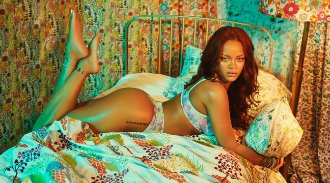 Rihanna Hot Ass In Lingerie