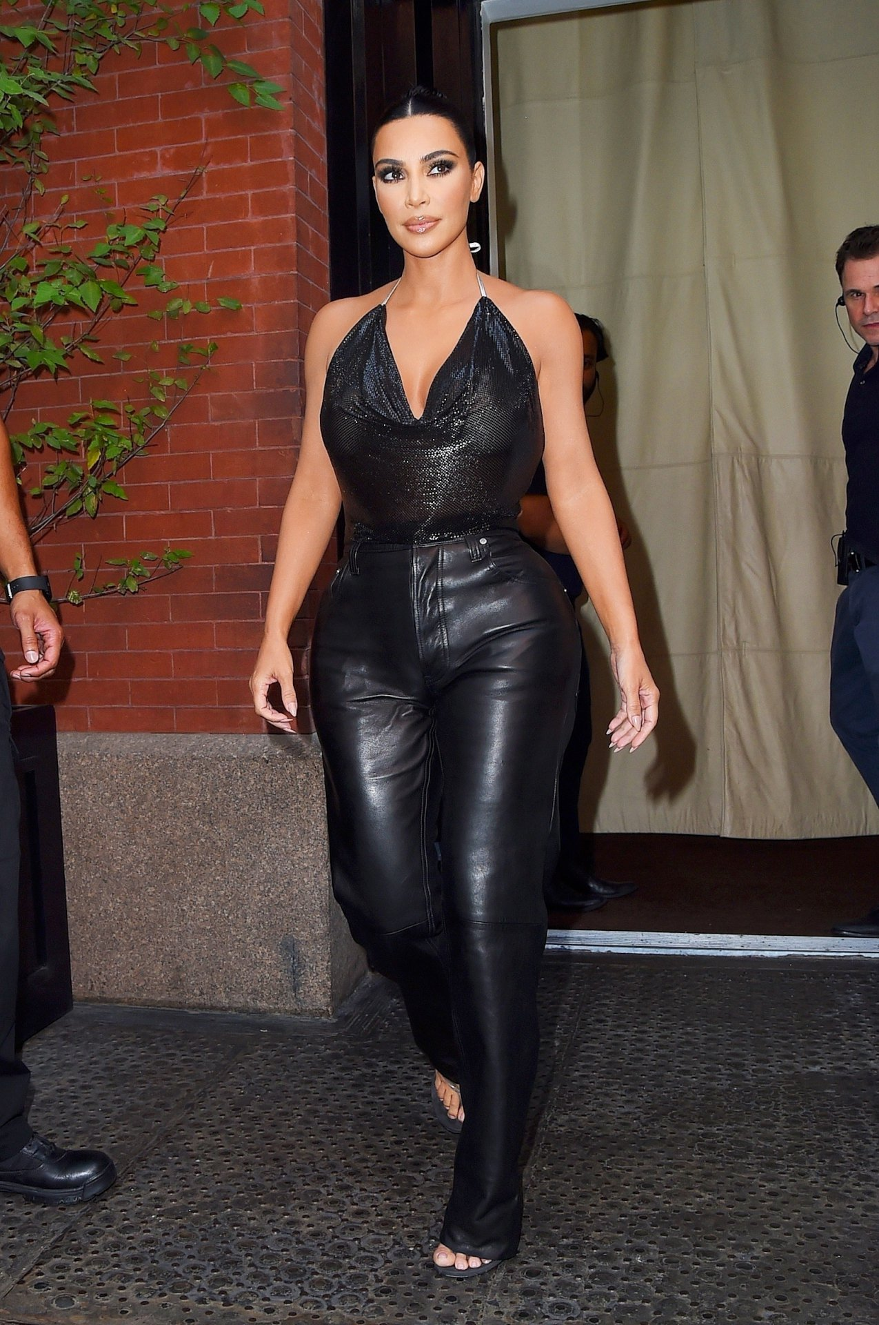 Kim Kardashian Dressed Head To Toe In Her Favorite Brand