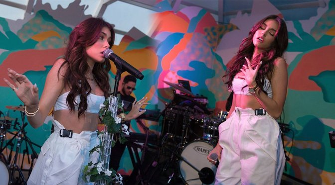 Madison Beer performs at The Surf Lodge in Montauk