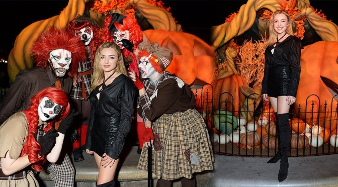 Peyton List – Sexy Photoshoot at Knott's Scary Farm in Buena Park