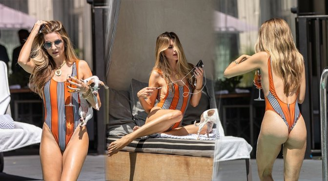 Rachel McCord – Sexy Swimsut Candids at the Pool in Hollywood