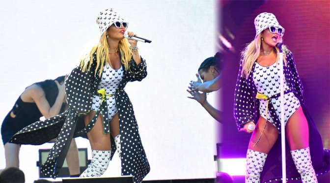 Rita Ora – Sexy on Stage in Velizy-Villacoublay