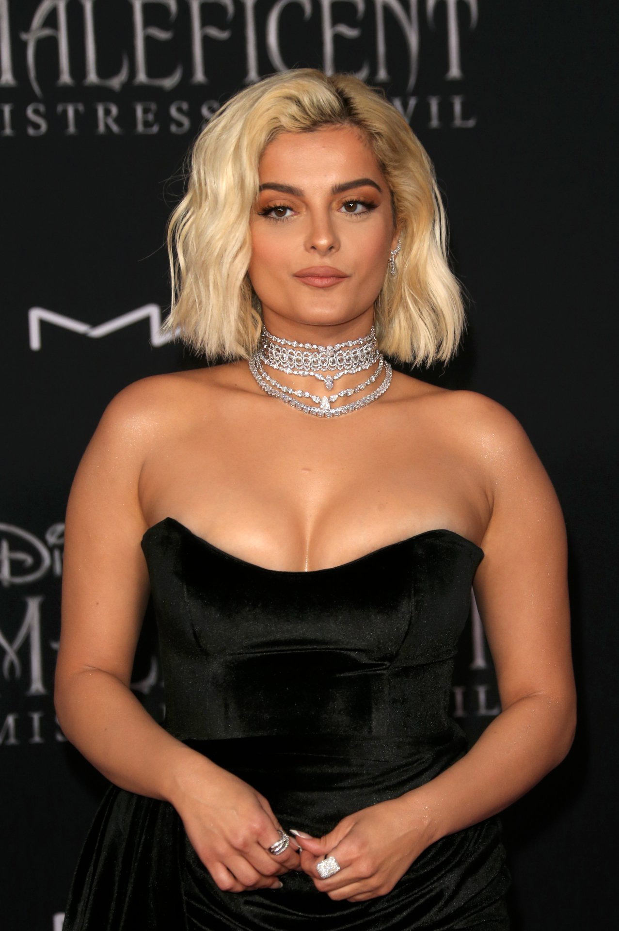 """Bebe Rexha - Big Cleavage at """"Maleficent: Mistress of Evil"""" Premiere in Los Angeles - Hot Celebs ..."""