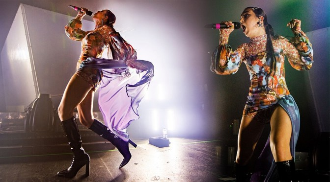 Charli XCX performs on stage at O2 Institute in Birmingham