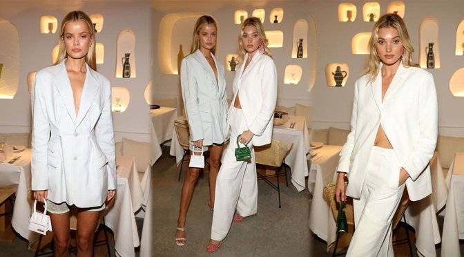 "Frida Aasen & Elsa Hosk – Sexy at ""Oursin"" Restaurant Opening in Paris"