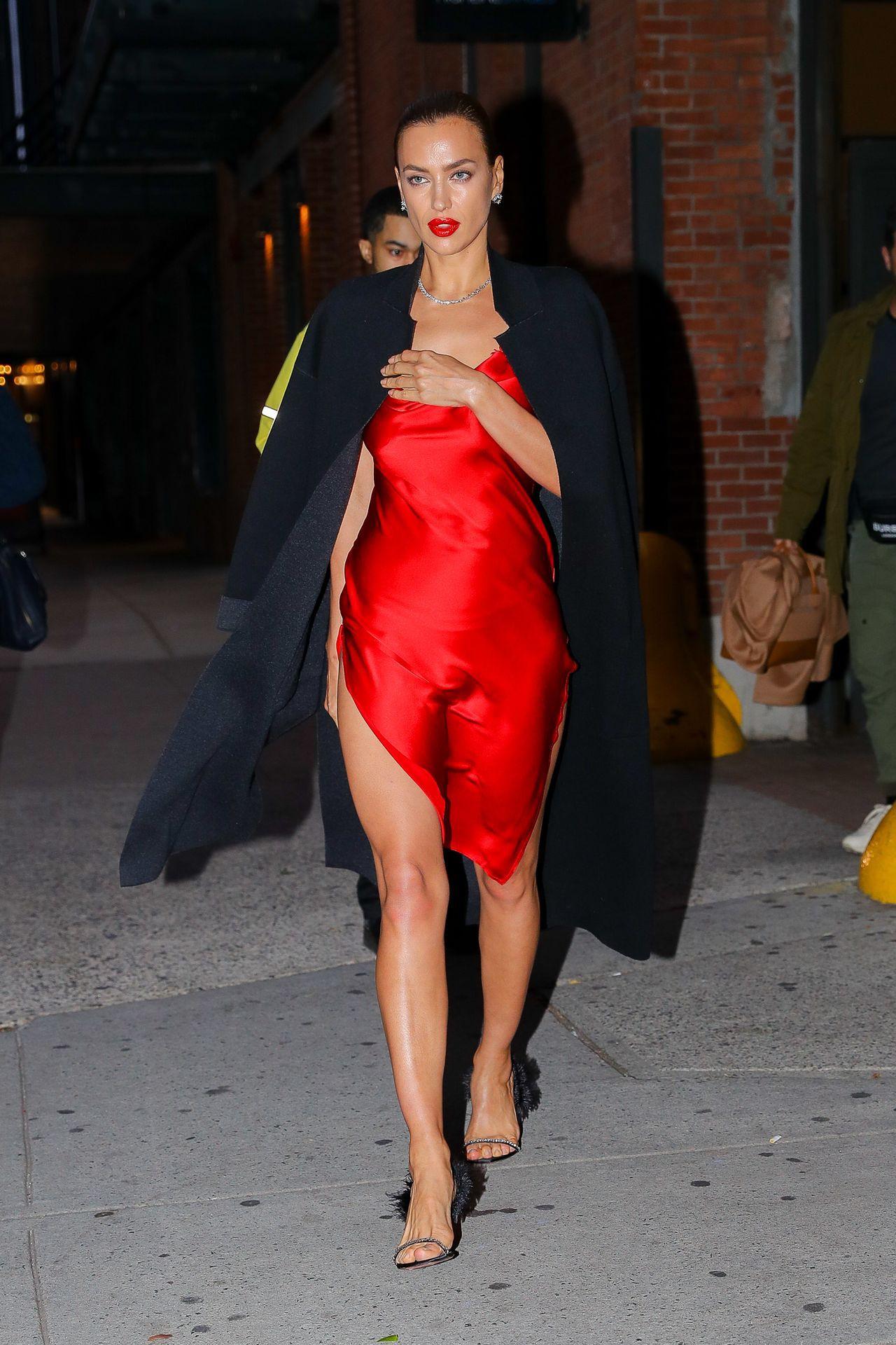 Irina Shayk Sexy Red Dress