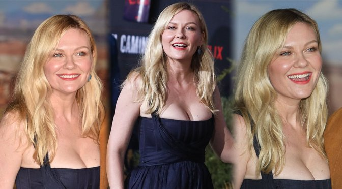 "Kirsten Dunst – Big Cleavage at ""El Camino – A Breaking Bad Movie"" Premiere in Los Angeles"