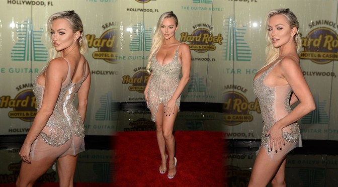 Lindsey Pelas – Sexy Naked Ass at Guitar Hotel Opening in Hollywood