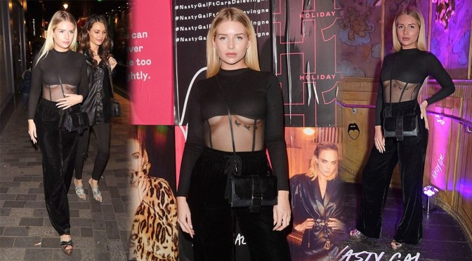Lottie Moss – Sexy Underboobs at the Cara Delevingne x Nasty Gal Launch Party in Soho