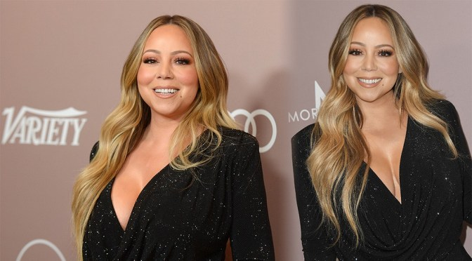 Mariah Carey – Sexy Cleavage at Variety's 2019 Power of Women: Los Angeles