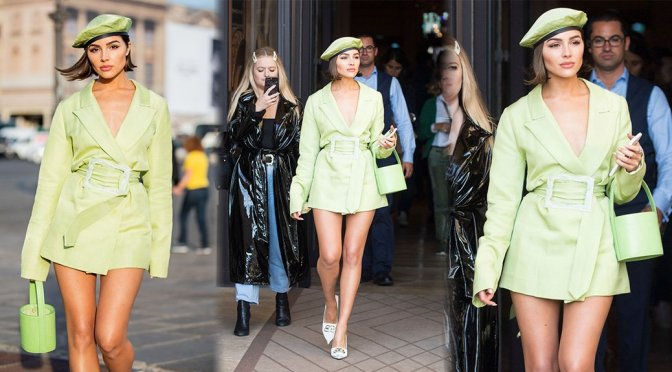 Olivia Culpo – Leggy Candids in Paris