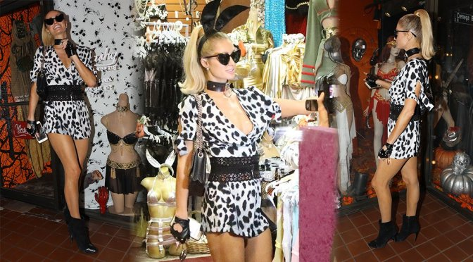 Paris Hilton – Sexy Legs at the Trashy Lingerie Store in Los Angeles