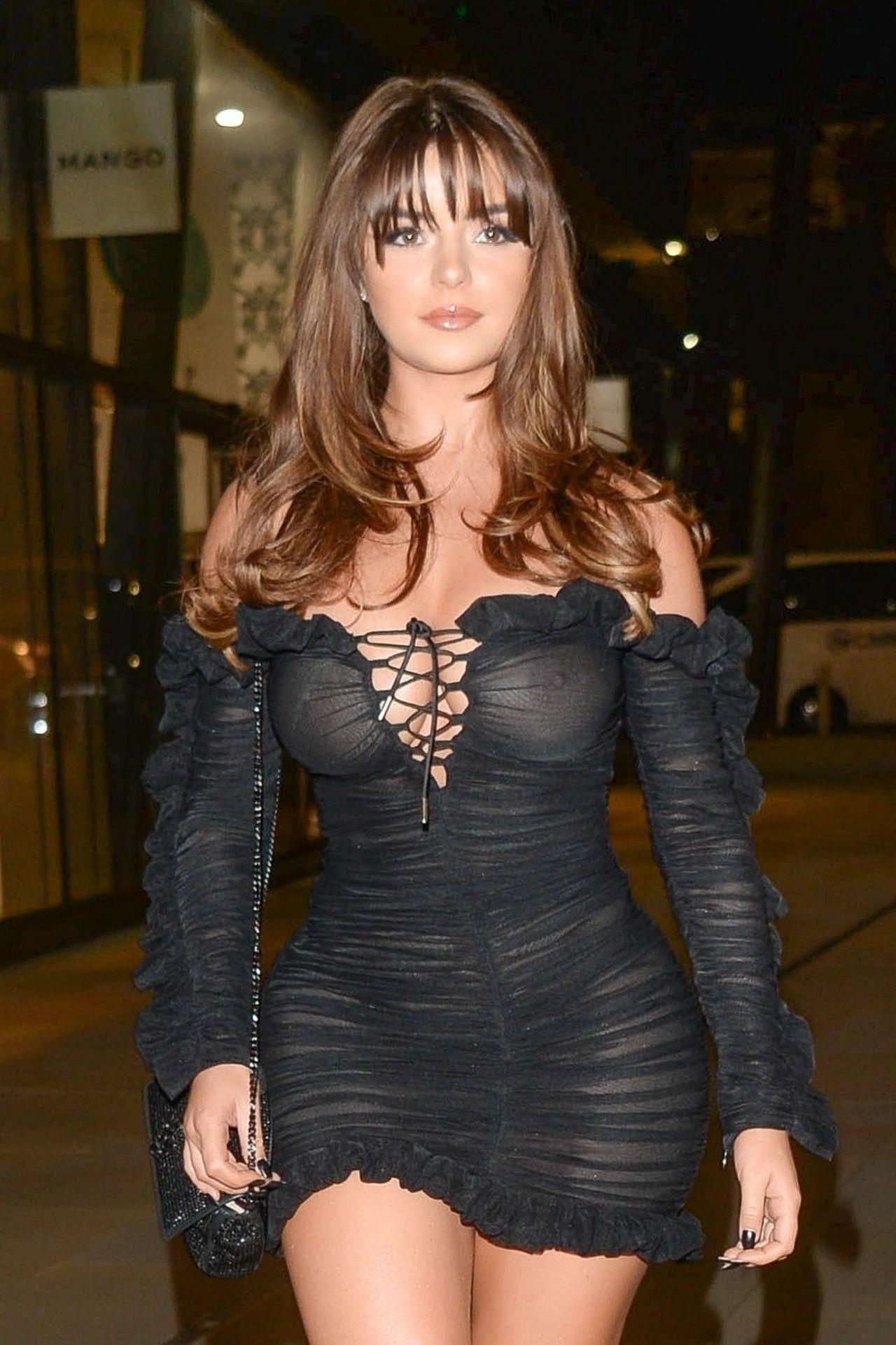Demi Rose Mawby Braless See Through Dress | Hot Celebs Home