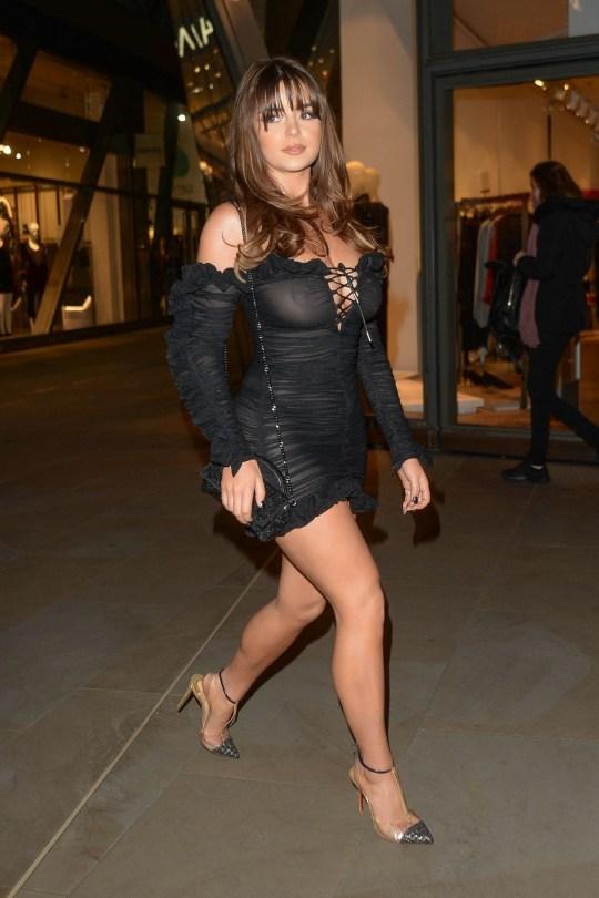 Demi Rose Mawby Braless See Through Dress