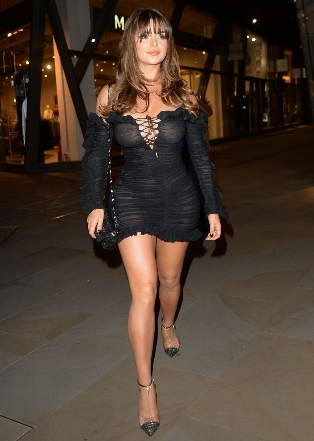 Demi Rose Mawby Braless See Through Dress