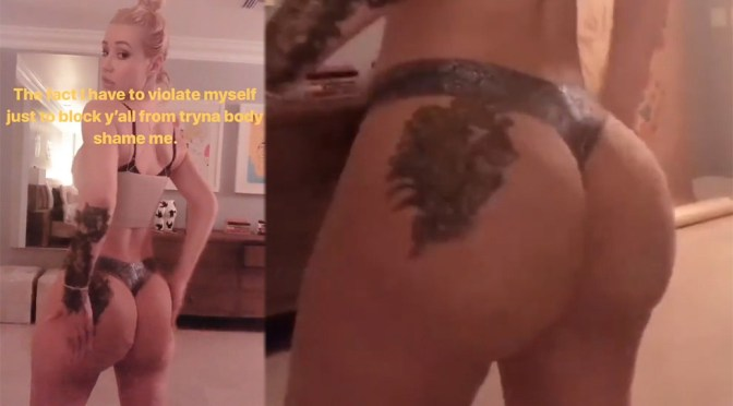 Iggy Azalea in a Bra and Thong Panties Twerking Video