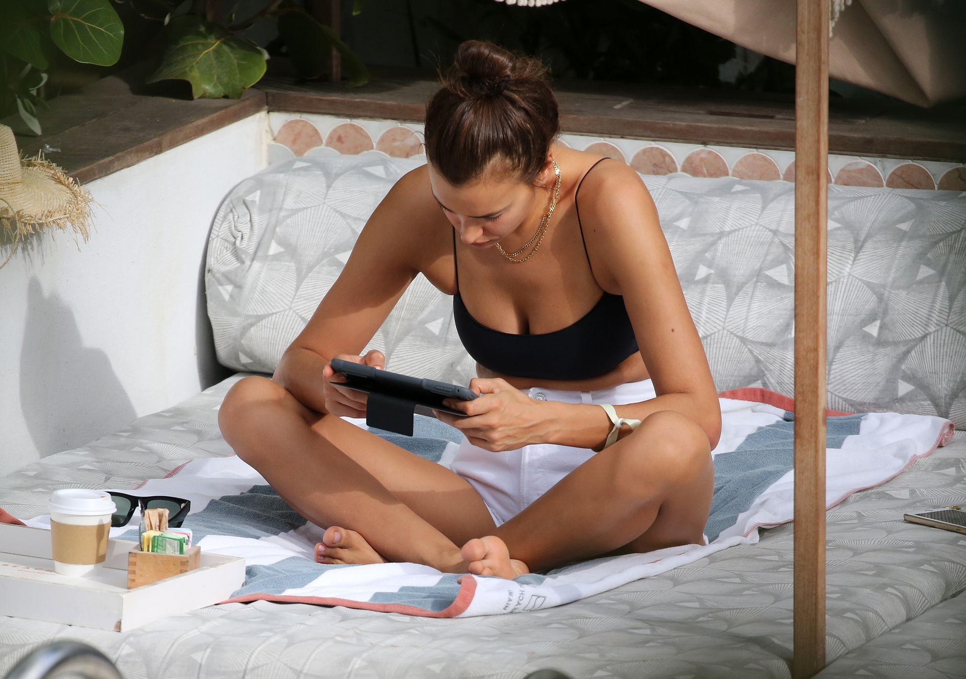 Irina Shayk Sexy Black Bikini