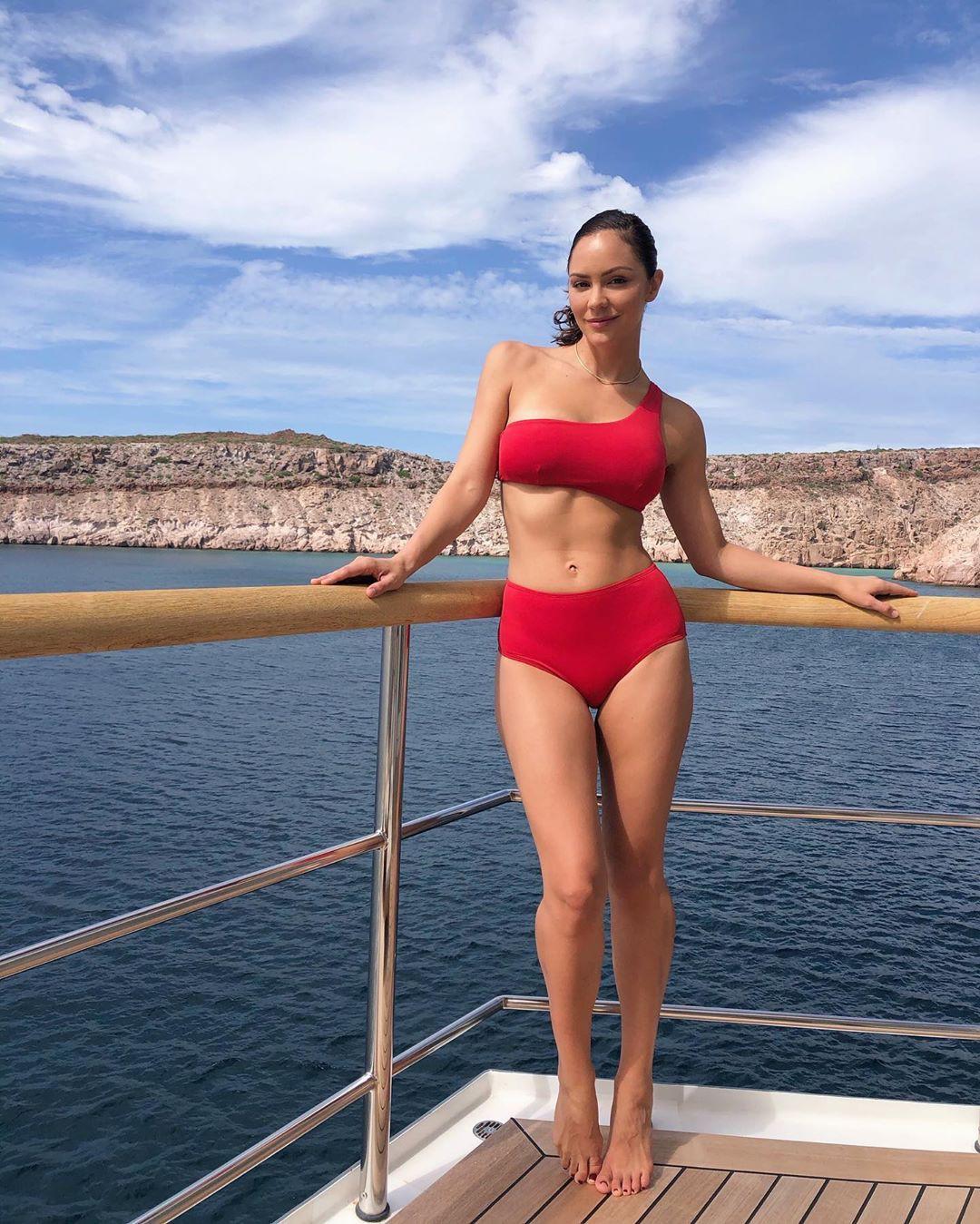 Katharine Mcphee In A Red Bikini In Mexico