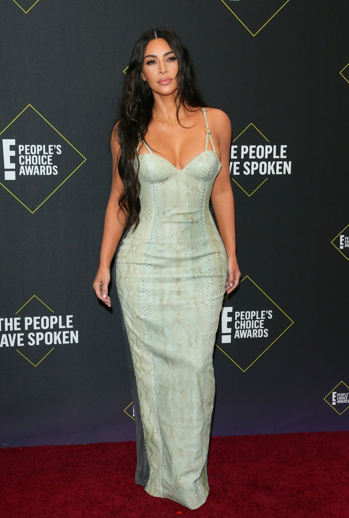 Kim Kardashian Sexy Cleavagy Dress