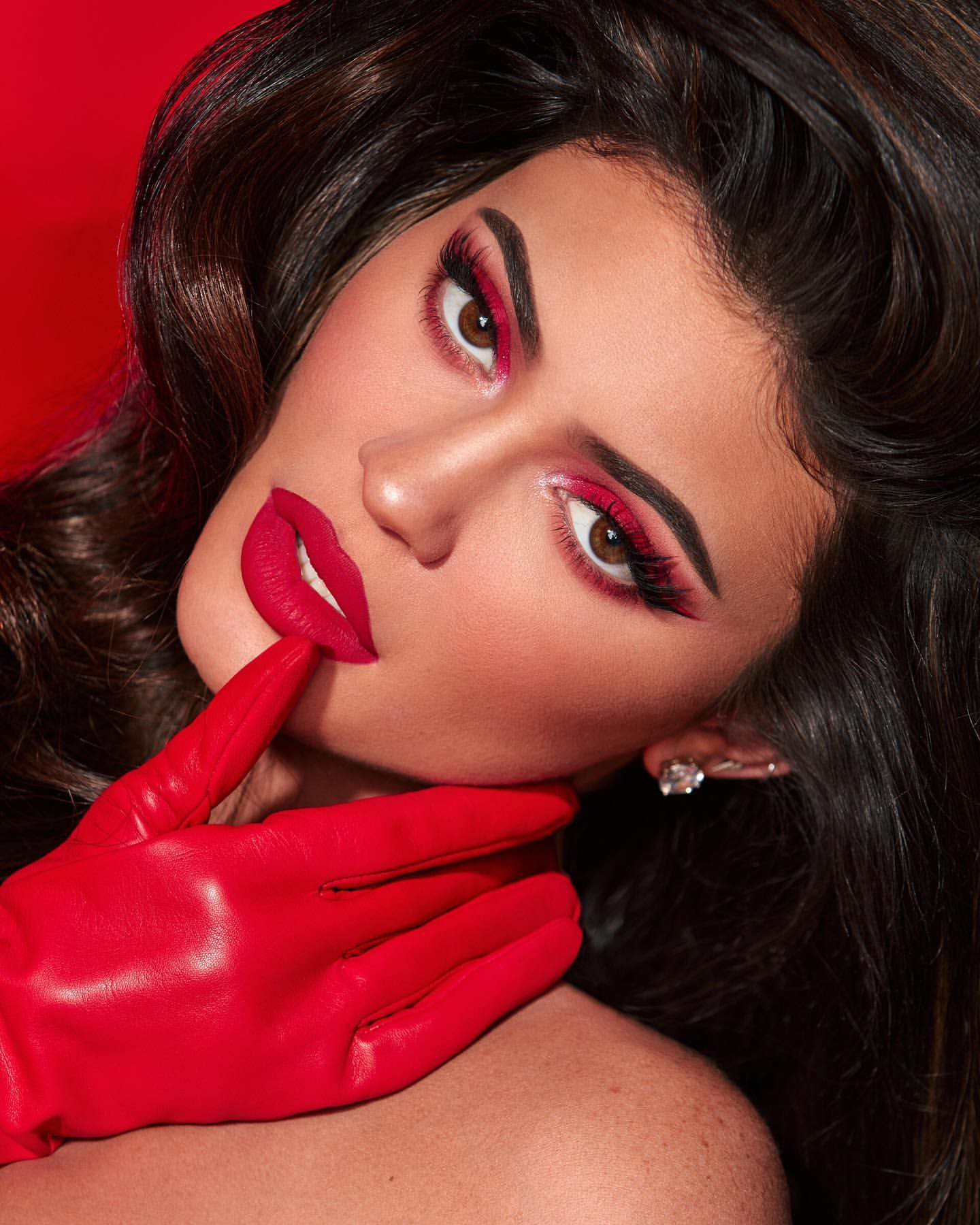 Kylie Jenner Red Hot Photoshoot