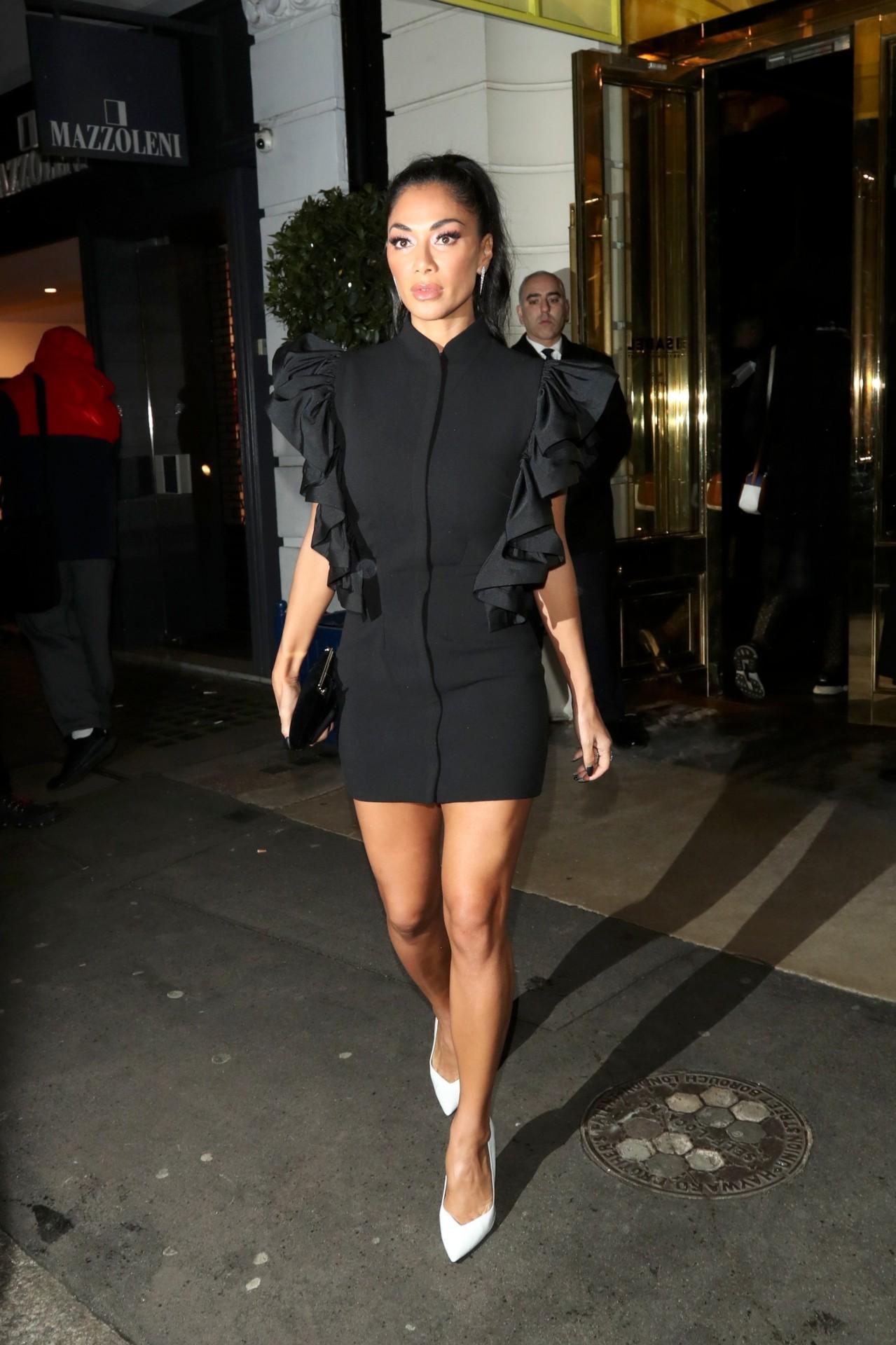 Nicole Scherzinger Sexy Short Dress