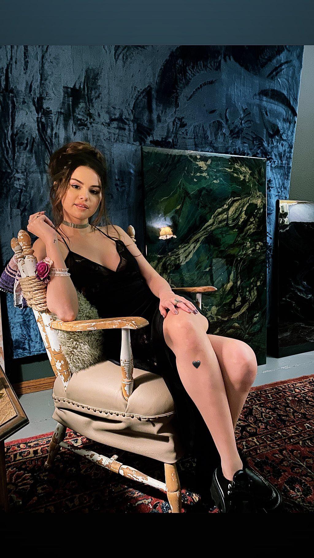 Selena Gomez Sexy Black Dress