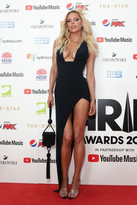 Sophie Monk Sexy Dress Braless Boobs