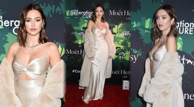Delilah Belle Hamlin – Sexy Boobs at amfAR generationCURE Holiday Party in New York