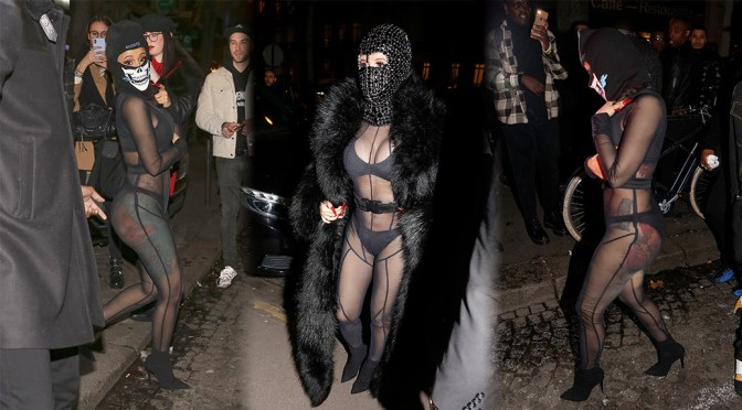 Cardi B – Sexy Boobs and Ass in See-Through Outfit at Laundered Works corp Fashion show in Paris