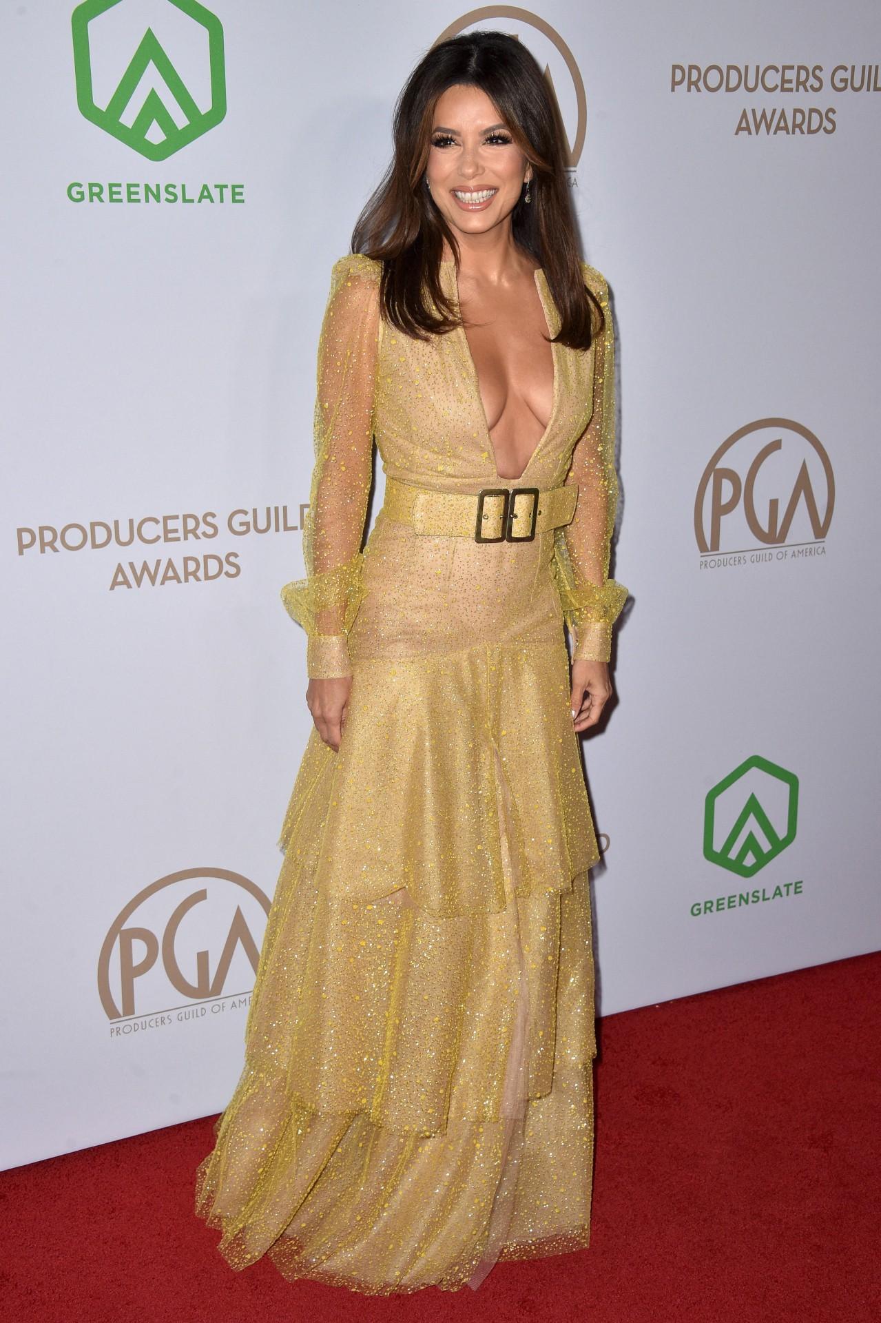 Eva Longoria - Braless Cleavage at 31st Annual Producers