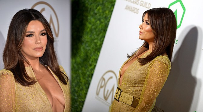 Eva Longoria – Braless Cleavage at 31st Annual Producers Guild Awards in Los Angeles