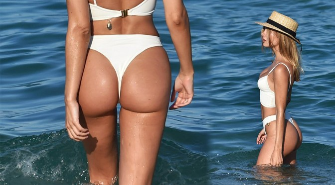 Kimberley Garner Perfect Ass In Thong Bikini