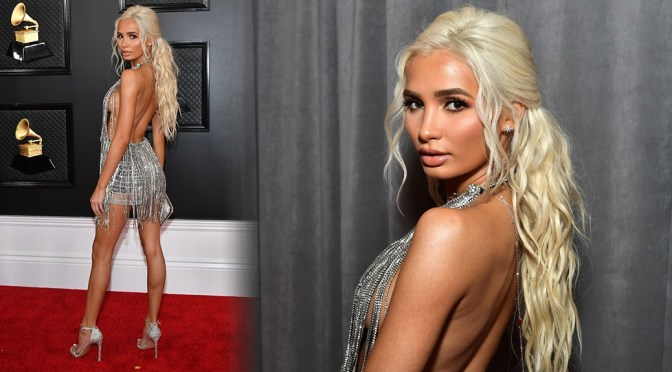 Pia Mia Perez – Sexy Braless Side-Boob at 62nd Annual Grammy Awards in Los Angeles